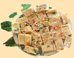 bite sized pieces of delicious burfi