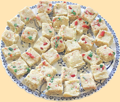 bite sized pieces of delicious Enriched burfi
